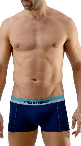 Geronimo Mens Underwear Stretch Micro Hipster Boxer Blue 252b1